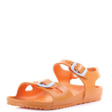 Kids Girls Boys Birkenstock Rio Eva Neon Orange Narrow Twin Strap Sandal Shu Siz