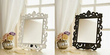 Vintage look~Decorative ornate dressing table mirror black or white-NEW
