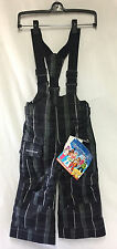 Obermeyer Boys/Kids Preschool Volt Suspender Bib Ins Snow Ski Winter Black  NEW