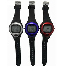Pulse Heart Rate Monitor Calories Counter Fitness Watch Time StopWatch Alarm SY