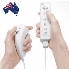 Remote And Nunchuck Controller Set For Nintendo Wii Game + Case Skin White UU