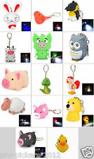 BUYER'S CHOICE Collectible Animals Mini LED Keychain Flashlight w/ Sound Effects