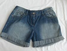 GIRLS Next Blue jean distressed turn up shorts age 3 years 15 years