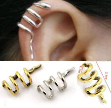 Vintage Gothic Punk Snake Cartilage Ear Cuff Clip Wrap Stud Earrings Jewellery~