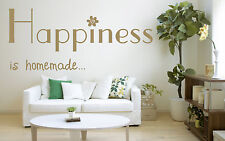 Happiness is Home Made Vinyl Wall Art Sticker, Mural, Decal