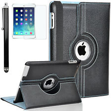 Zeox 360 Rotating PU Leather Smart Case Cover Stand for Apple iPad Air/ Air 2