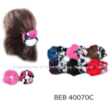 12pcs Hair Tie Duo Fuzzy Leopard Animal Prints Ponytail Holders Scrunchies Lot