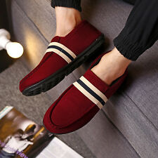Fashion Mens Canvas Slip On Casual Breathable Loafers Sneakers Flats Soft Shoes