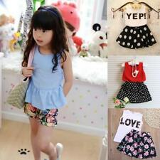 Newborn Baby Kids Girls Clothes T-shirts Tops +Pants Dress Skirt Sets Outfits