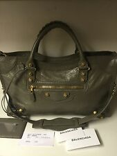 BALENCIAGA GIANT 12 CITY LEATHER TOTE - Olive Green -