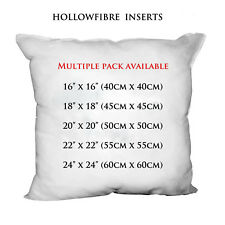 "Hollowfibre Cushion Pads Inserts Fillers Inners Sizes 16"" 18"" 20"" 22"" 24"""
