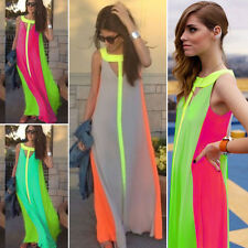 Sexy Womens Casual Evening Cocktail Long Maxi Boho Party Dress Summer Beach Prom
