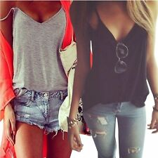 New Fashion Womens Summer Vest Top Sleeveless Blouse Casual Tank Tops T-Shirt HO