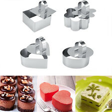 Stainless Steel DIY Mousse Cake Ring Baking Mold Mould Layer Slicer Cutter DIY