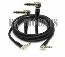 """35ft Premium Stereo 6.35mm 1/4"""" inch TRS Male to M Right Angle Audio Cable Gold"""