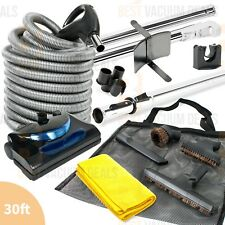 Linear Central Vacuum Electric Kit Powerhead 30' ft Hose & Tools
