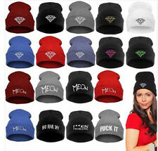 Winter Men Women's Unisex Beanie Caps Hip-Hop Warm Wool Knitted Snap Back Hats
