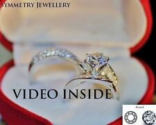 His&Hers 3 Rings Wedding, Anniversary Bands Engagement & Wedding Ring Uniqeu16*