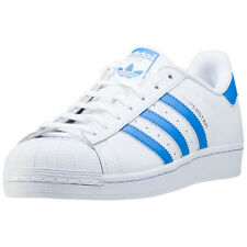 adidas Originals Superstar Mens Trainers White Blue New Shoes