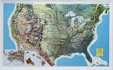 US (All 50 States) Rand McNally Raised Relief Map NCR Style