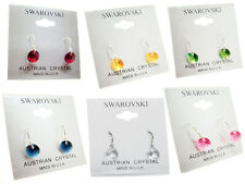 Drop Earrings - Solid Sterling Silver - Swarovski Elements - 6 CZ Color Choices!