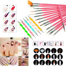 HOT 20pcs Nail Art Design Set Dotting Painting Drawing Polish Brush Pen Tools