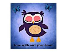 Custom Made T Shirt Love With Owl Your Heart Adorable Butterflies Choice