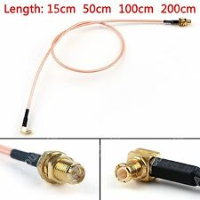 RG316 Cable MCX Male Right Angle To RP.SMA Female Plug Jumper Pigtail