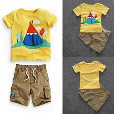 Toddler Kids Baby Boys Clothes Set T-shirts top Shorts Summer Outfits 2PCS New