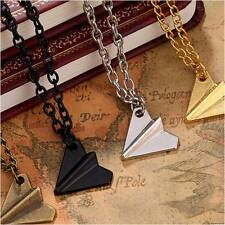 One Direction 1D Harry Styles Paper Airplane Charms Necklaces Silver Gold New