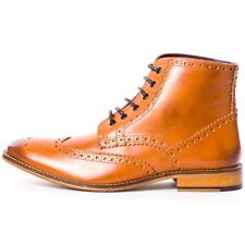 London Brogues Handcrafted Mens Brogues Tan New Shoes
