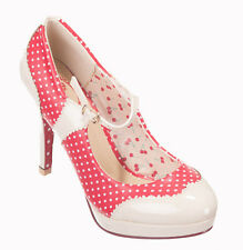Dancing Days by Banned MARY JANE Polka Dot Cherry Shoes 50s Rockabilly Heels RED