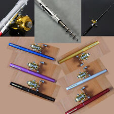 Mini Portable Pocket Fish Pen Shape Aluminum Alloy Fishing Rod Pole Reel Combos