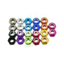 5-20 PCS M2 Color Nylon Insert Self-Lock Hex Lock Nut Aluminum Locking Nuts 2MM