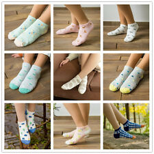 2 Pairs/Lot Women's Girl Soft Cotton No Show Ankle Socks Stuff Size 9-11 Cartoon