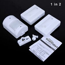 Driveway Patrol PIR Motion Sensor Wireless Detector Receiver Infrared Alarm Kits