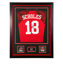 Framed Paul Scholes Hand Signed 1998 Manchester United Shirt - Number 18