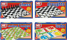 M.Y. TRADITIONAL CLASSIC BOARD GAMES - CHESS, LUDO, DRAUGHTS, SNAKES AND LADDERS