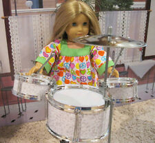 "Doll Drum Set For 18"" Doll American Girl and Other Dolls New"