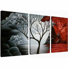 Framed Abstract Canvas Art Print Photo Wall Home Decor Poster Landscape Trees