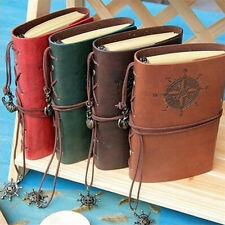 Vintage Classic Retro Leather Journal Travel Notepad Notebook Blank Diary BDAU