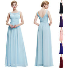 Sleeveless V-Back Chiffon  Womens Cocktail  Dresses Evening Prom Party Ballgown