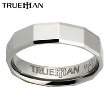 Mens Facets Unique Tungsten Band Trueman Carbide Ring Size 8.25-13.25