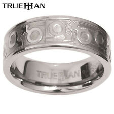 New Unisex Bee Tungsten Band Trueman Carbide Mens Ring Size 8.25-13.25