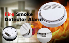 1/2/5/10P Cordless Fire Smoke Detector Alarm Photoelectric Smoke Warning Battery