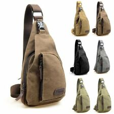 Vintage Men's Military Canvas Satchel Outdoor Shoulder Bag Messenger Travel Bag