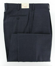 New $900 Brioni Midnight Navy Blue Check Pants - Slim - (CANNES4010223R)