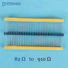 50pcs 1W Watt Metal Film Resistor 1% 82Ω to 910Ω Ohm Free In Stock