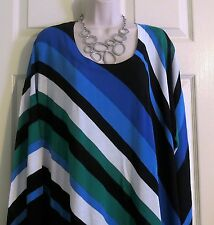 NEW Stunning Asymmetric Hem Multi Color Tunic Top Lane Bryant Plus 22/24 (2X/3X)