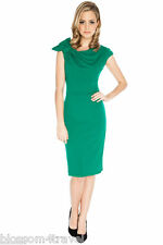Goddess Jade Asymmetric Shoulder Fan Pencil Wiggle Fitted Evening Party Dress